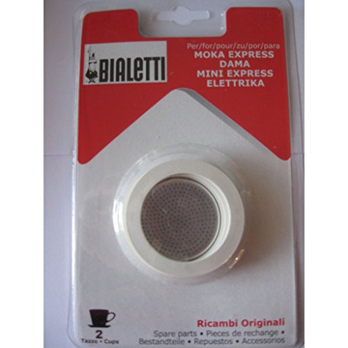 3 gaskets and 1 filter for aluminium coffee-pots Bialetti 2 cups.