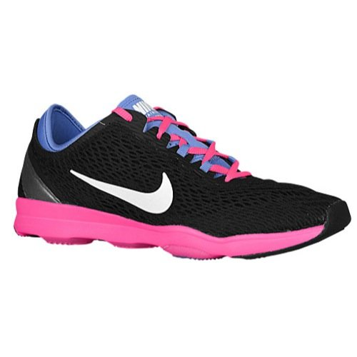 Nike Womens Wmns Zoom Fit , BLACK/WHITE-POLAR-PINK POW, 6 US by NIKE