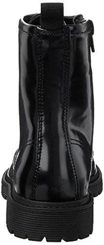 Fritzi aus Preußen Liz Patent Worker Boot, Botas Militar Para Mujer Negro (Black)