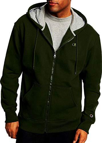 Champion Men's Big & Tall Full Zip Fleece Hoodie (3XL, Forest Grove) (Full Zip Long Sleeve Fleece)