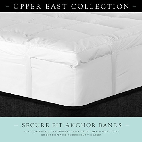 Upper East Collection 3 Inch Down Alternative Featherbed Mattress Topper - Ultra Plush 100% Long-Staple Cotton 3