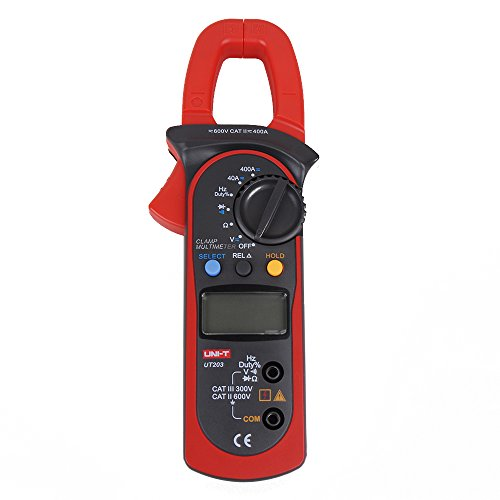 UNI-T UT203 Digital Handheld Clamp Multimeter Tester Meter DMM CE AC DC Volt Amp by UNI-T