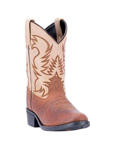 Dan Post Western Boots Boys Buckeye 3.5 Child Rust Dark Tan DPC3009 (6 M US Big Kid)