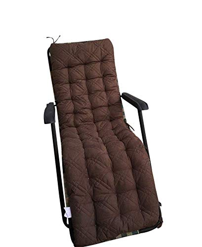 (Ofit Quilted Micro Suede Patio Long Chair Cushion Pads (17x60
