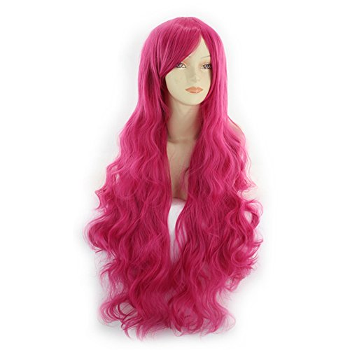 Komifa Cosplay Wigs for Women, Synthetic Hair Anime Wig Curly Long Wig (Rose (Synthetic Rose)