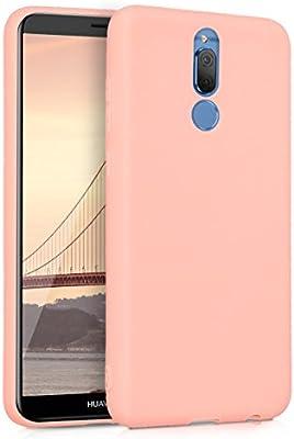 kwmobile Funda compatible con Huawei Mate 10 Lite - Carcasa de TPU para móvil - Cover trasero en rosa oro mate