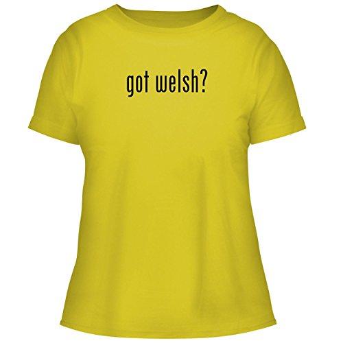 BH Cool Designs got Welsh? - Cute Women's Graphic Tee, Yellow, (Webkinz Jack)