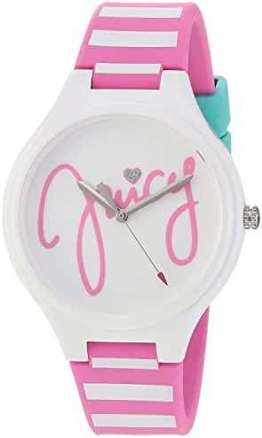 Juicy Couture Girl's 'DAY DREAMER' Quartz Plastic and Silicone Casual Watch, Color:White (Model: 1901566)