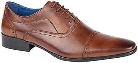 (ローマーズ) Roamers メンズ5アイレット パンチング加工キャップ レザー オックスフォードシューズ 紳士靴 男性用