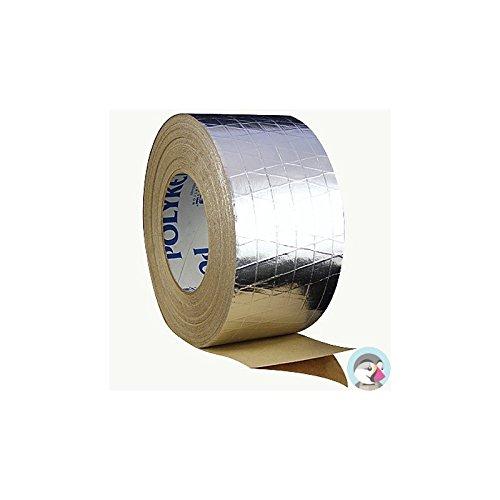 Polyken Aluminum Tape - 72 mm Width x 8 mil Total Thickness - Flame Retardant - 338 72MM X 46M ALUM [PRICE is per ROLL]