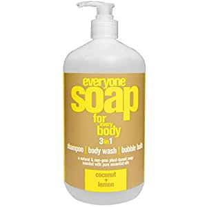 EO Products, Everyone Soap for Every Body, 3 in 1, Coconut Lemon, 32 fl oz (946 ml)