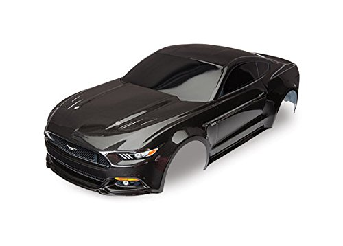 Body Tec 4 (Traxxas Black Painted Ford Mustang GT Body (1: 10 Scale) Vehicle)