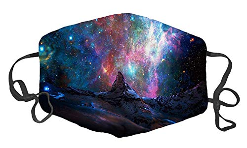 Matterhorn and A Galaxy Custom Mouth Mask Anti-Dust Face Mask Adjustable Buckle Face Mask