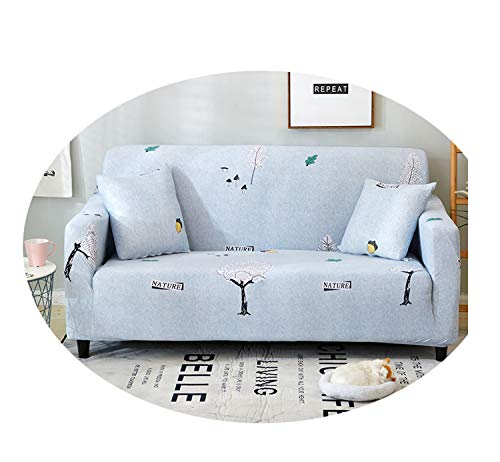 Sofa Cover Armless Print Lovely Cartoon Sofa Suite Living Room Couch Cover Set Four Seasons Full Coverage of Sofa Set Trees and Mushrooms 1-seat 90-140CM