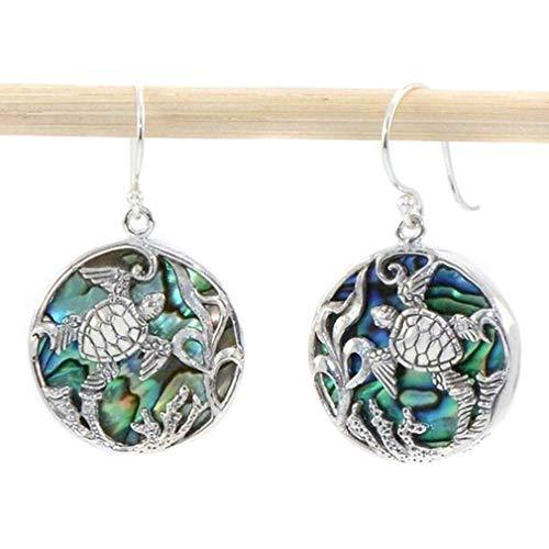 Essencedelight Sea Turtle Hoop Earrings Fish Hook Stud Earrings Summer Fashion Dangle Earring Unique Gift and ()