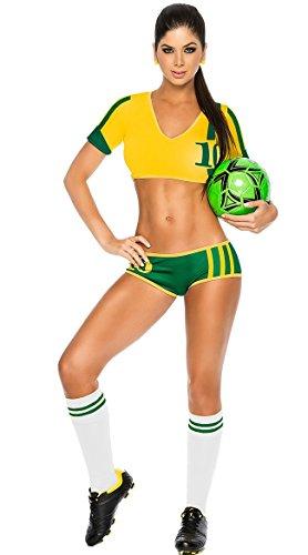 [Adam's Temptation Women's Australia Soccer Babe Sport Lingerie Costume Set (One Size)] (Football Player Halloween Costume Women)