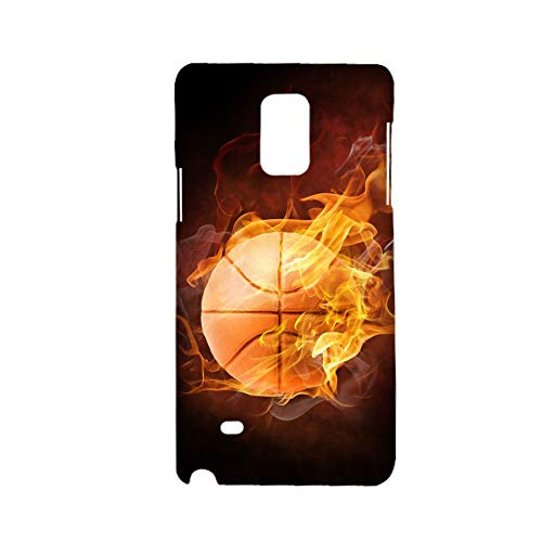 Design Basketball for Men Use On Galaxy Note 4 Samsung Obvious Phone Case Plastic