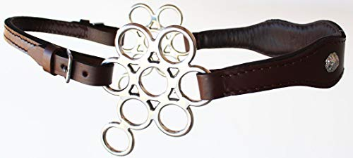 PRORIDER Brown Adjustable Leather Bitless English Western Horse Bit Hackamore Tack 35H08