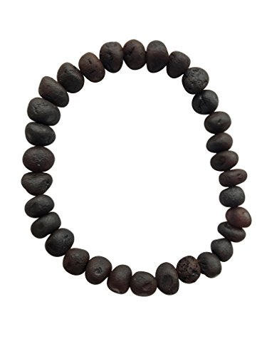 Raw Cherry Baltic Amber Adult Bracelet for Adults - 7 inches - Anti-inflammatory - Pain Relief for Carpel Tunnel, Arthritis, Headache, Migraine, Joint Pain (Baltic Cherry)
