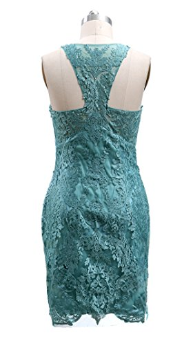 a Cocktail Sheath MACloth Wedding Turquoise Beading Party Lace Dress Short Women Glamourous CqwAS