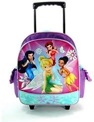 Disneys Tinkerbell Fairies Small Rolling School Bag
