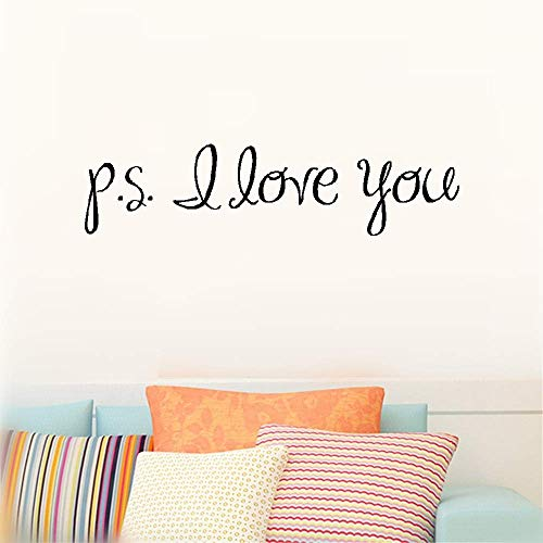Viersy Wall Stickers Art Decor Decals P.S. I Love You for Bedroom Nursery Kids Room