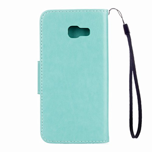 Yiizy Samsung Galaxy A3 (2017) / A320F/FL / A320Y Custodia Cover, Fiori Sollievo Design Sottile Flip Portafoglio PU Pelle Cuoio Copertura Shell Case Slot Schede Cavalletto Stile Libro Bumper Protettiv