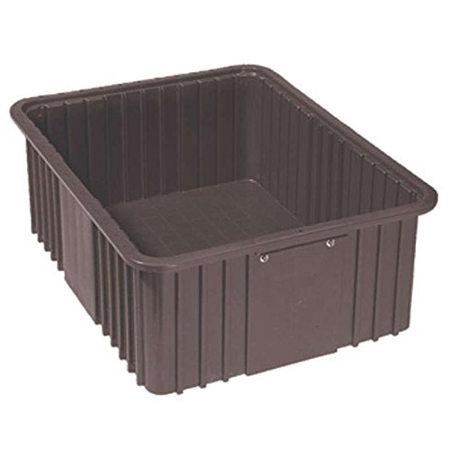 Lewis 1000 ESD-Safe Divider Tote Box, 10.8 in x 8.3 in x 5 in, Black; 16/CT Esd Tote Boxes