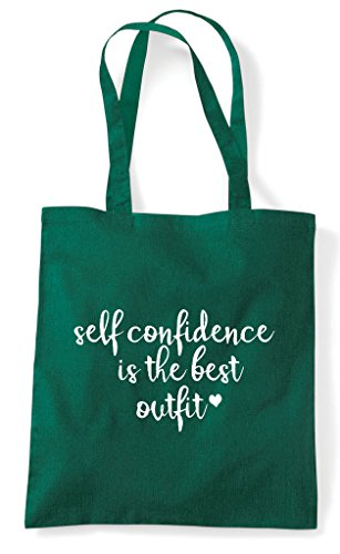 Shopper The Outfit Is Confidence Bag Self Best Dark Statement Green Tote Epq8aPP6