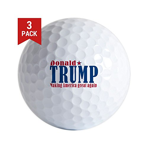America Golf Balls (CafePress - Trump America Great - Golf Balls (3-Pack), Unique Printed Golf Balls)