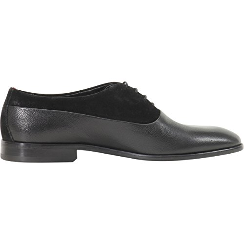 Hugo Boss Menns Dressapp Blonder-up Dressy Svart Oxfords Sko Sz: 12