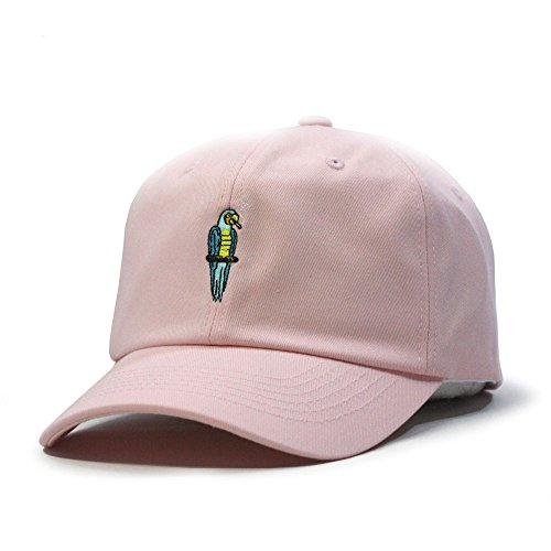 - Soft Cotton Plane/Animal Adjustable Strap Baseball Cap (Parrot Pink)