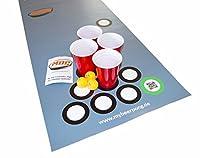 Beer Pong Set Bierbank 220 x 50 cm - passt auf alle Bierzeltgarnituren inkl....