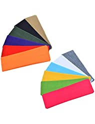 Allure Maek 12PCS Stretchy Cotton Yoga Headband