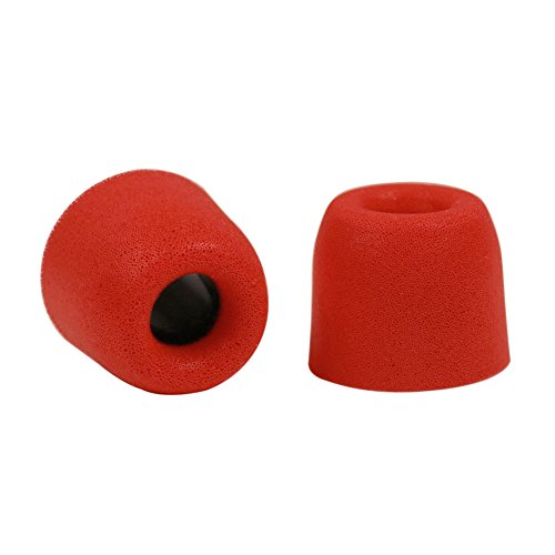 Kingyou Premium Replacement Memory Foam Earphone Earbud Tips Isolation for In-Ear Headphones T400 (Red)