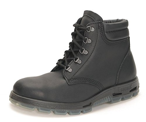 RedbacK Boots USABK Outback Lace Up Steel Toe - Black Leather (9.5 UK (10.5 US)) by RedbacK