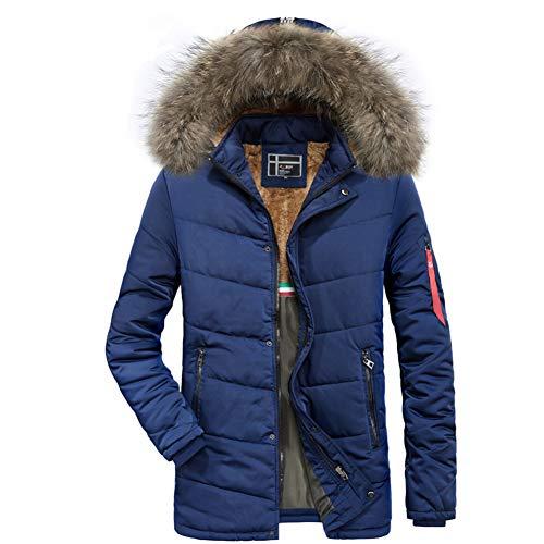 Jacket The of Coat Plus Moxishop Multi Men's Windbreaker Windproof Velvet Warm Color Jacket Parker Blue Padded Section New in Long CxwAqUxF