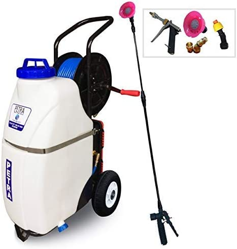PetraTools Battery Powered 12 Gallon Cart Sprayer