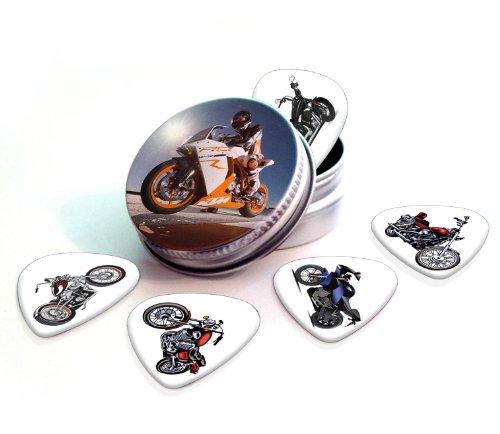 Motorbike Framed (Motorbikes Premium Guitar Picks x 5 With)