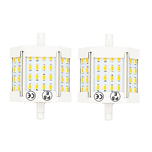 (R7S LED 78mm Bulb Luxvista 10W Double Ended LED Light Daylight 6000K Recessed Lighting Wall Sconces 100W Halogen Raplacement, Non-Dimmable (2-Pack))
