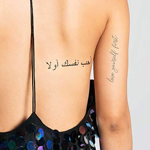 Amarte a ti mismo primero - Tatuaje temporal (conjunto de 2 ...