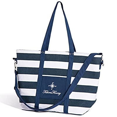 good Fishers Finery Day-At-The-Beach Insulated Soft Tote Beach Bag; Multiple Straps