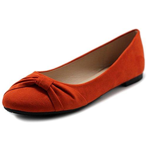 Ollio Women's Shoe Ballet Faux Suede Flat