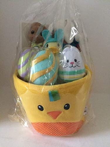 Infantino Go Gaga Plush My First Easter Chick Basket Toy Assortment Yellow
