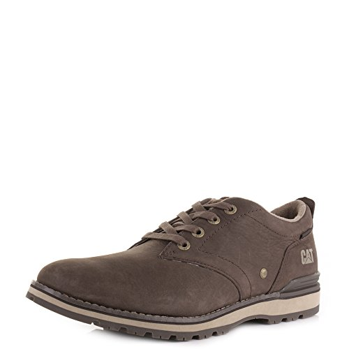 Rayen Cat Herren Oxford dunkel braun Lace Up Leder Schuhe, Casual