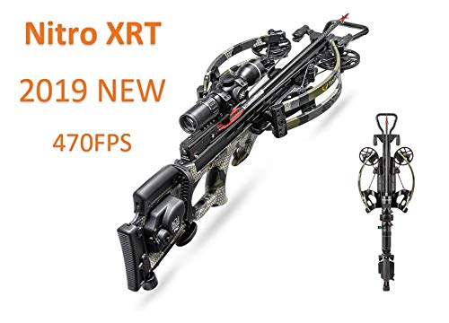 Tenpoint Nitro XRT Crossbow Elite Package, EVO-X Marksman Scope, Sling, STAG Hard Case and ACUdraw PRO Cocking Device | 2019 (Best Compound Crossbow 2019)