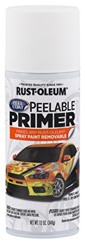 Rust-Oleum 304611 Peel Coat Peelable Primer 12 Oz, White