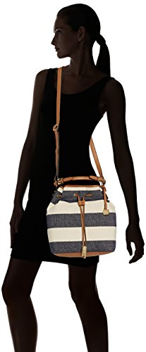 Tommy Hilfiger Sm Summer Bucket - Bolsos totes Mujer Azul (Midnight / Natural)