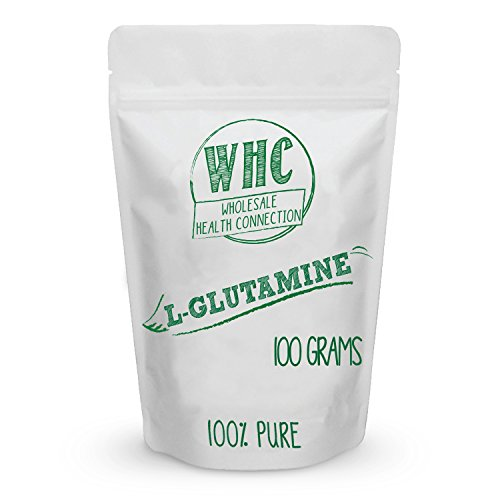 L-Glutamine Powder 100g (20 Servings) | Boosts Immune System | Reduces Recovery Time | Builds Lean Muscle | Promotes Intestinal Nutrition