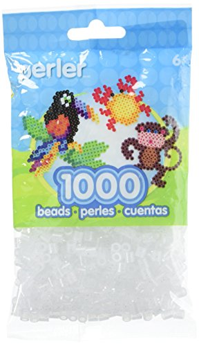 Perler Beads Fuse Beads for Crafts, 1000pcs, Clear Glitter